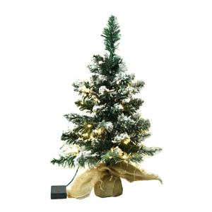 Vianočný stromček so svetielkami, posnežený, 60cm, CHRISTMAS TYP 1