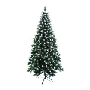 Vianočný stromček so šiškami, posnežený, 180cm, CHRISTMAS TYP 4