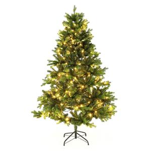 3D vianočný stromček so svetielkami, zelená, 180cm, LED300, CHRISTMAS TYP 6