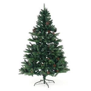 3D vianočný stromček so šiškami, zelená, 180cm, CHRISTMAS TYP 7