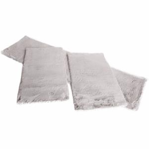 Set 3 ks, luxusný shaggy koberec, sivá, KAMALA LUX TYP 3
