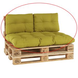 Vankúše na paletové sedenie, zelenožltá, ARYO