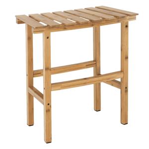 Príručný stolík k vírivke v tvare oblúka, prírodný bambus, VIREO TYP 1