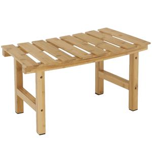 Príručný stolík k vírivke v tvare oblúka, prírodný bambus, VIREO TYP 3