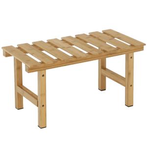 Príručný stolík k vírivke v tvare obdĺžnika, prírodný bambus, VIREO TYP 4