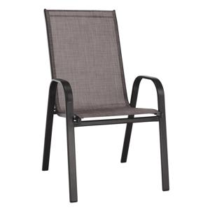 Stohovateľná stolička, hnedý melír/hnedá, ALDERA