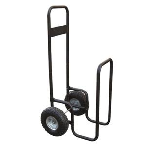 Prepravný vozík na drevo, s kolesami, kované železo, čierna, RATER