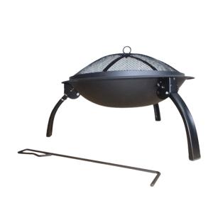 Prenosné ohnisko s grilovacou mriežkou, poklopom a kutáčom, MILDO