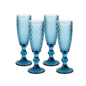 Retro poháre na šampanské, 4ks, 150ml, VERITAS TYP 4