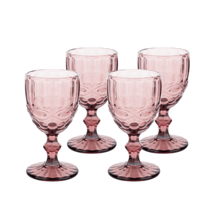 Vintage poháre na víno, 4ks, 240ml, červená, SAVOY TYP 3