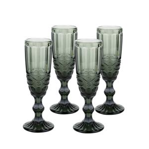 Vintage poháre na šampanské, 4ks, 150ml, sivá, SAVOY TYP 4