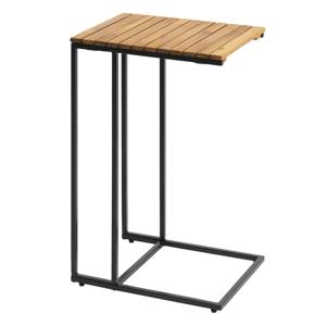 Príručný stolík, čierna/hnedá, BELDRINGE