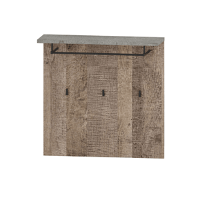 Vešiakový panel, dub pieskový/sivá, BARIA 80