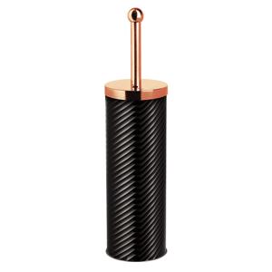 WC kefa so stojanom, čierna/metalická Rose Gold, BERLINGERHAUS BH-6513