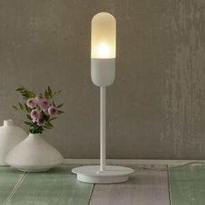 ALMA LIGHT BARCELONA Stolná lampa Capsule, biela