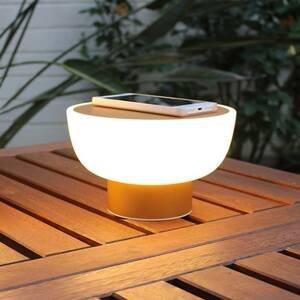 ALMA LIGHT BARCELONA Vonkajšia deko LED lampa Patio, zlatá, 20cm