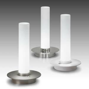 ALMA LIGHT BARCELONA Stolná LED lampa Candle, chróm