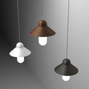 ALMA LIGHT BARCELONA Závesná lampa CapsuleHat, corten