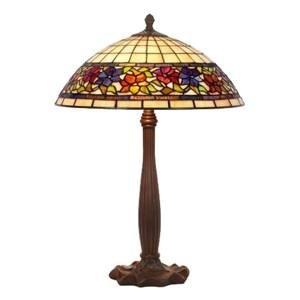Artistar Stolná lampa Flora štýl Tiffany dole otvorená 64cm