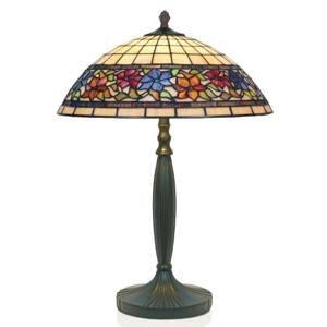 Artistar Stolná lampa Flora štýl Tiffany dole otvorená 62cm