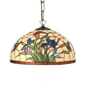 Artistar Závesná lampa Elanda v štýle Tiffany 2 x E27