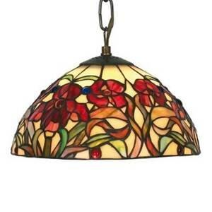 Artistar Malá závesná lampa Eline v štýle Tiffany