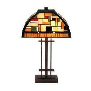 Artistar MOSAICA – stolná lampa v štýle Tiffany