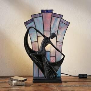 Artistar Stolná lampa Flamina v štýle Tiffany