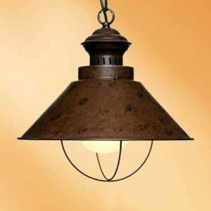 Artistar Jednoduchá závesná lampa Harvey v hrdzavohnedej