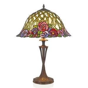 Artistar Stolná lampa Melika v štýle Tiffany