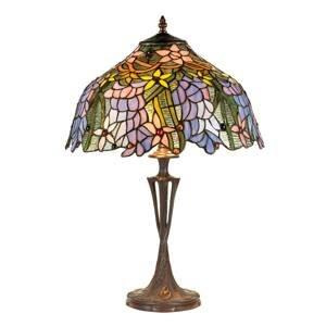 Artistar Stolná lampa KT1082+PBLM11 v štýle Tiffany