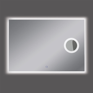 ACB ILUMINACIÓN Nástenné LED zrkadlo Olivia 110x75cm 4000 K, lupa