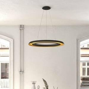 ACB ILUMINACIÓN Závesné LED svietidlo Shiitake, čierne/zlaté