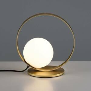 ACB ILUMINACIÓN Stolná LED lampa Halo, zlato/opál