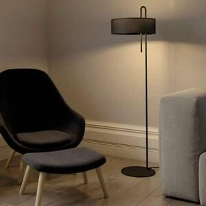 ACB ILUMINACIÓN Textilná stojaca lampa, čierna, výška 150cm