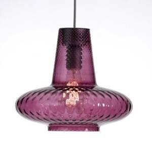 Ailati Sklenená závesná lampa Giulietta, ametystová