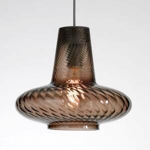 Ailati Sklenená závesná lampa Giulietta, sivá