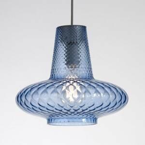 Ailati Sklenená závesná lampa Giulietta, modrá