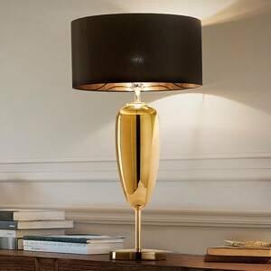 Ailati Show Ogiva – čierno-zlatá textilná stolná lampa