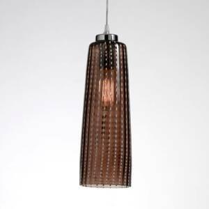Ailati Sklenená závesná lampa Perle sivá