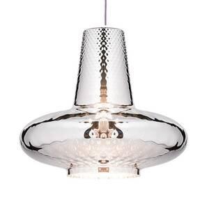 Ailati Závesná lampa Giulietta 130cm strieborná metalická