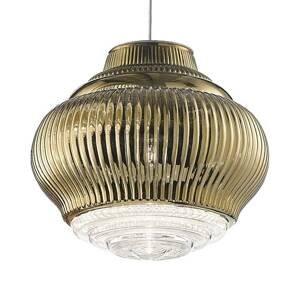 Ailati Závesná lampa Bonnie 130cm starozlatá metalická