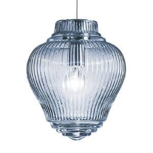 Ailati Závesná lampa Clyde 130cm svetlomodrá