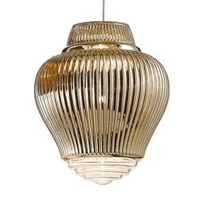 Ailati Závesná lampa Clyde 130cm starozlatá metalická