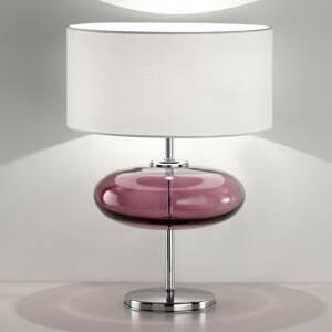 Ailati Stolná lampa Show Elisse 62cm prvok zo skla ružový