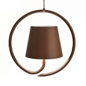 Ailati Závesná LED lampa Poldina napájaná batériou, hnedá
