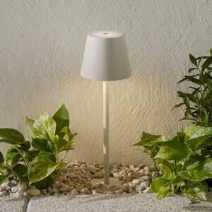 Ailati LED svetlo s hrotom do zeme Poldina batéria, biela