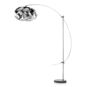 Artempo Italia Plaza – oblúková lampa moderná a vkusná, chróm