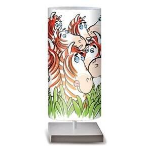 Artempo Italia Zebra stolná lampa veselé farby do detskej izby
