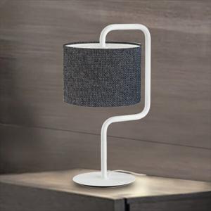 Artempo Italia Morfeo – látková stolná lampa v antracitovej